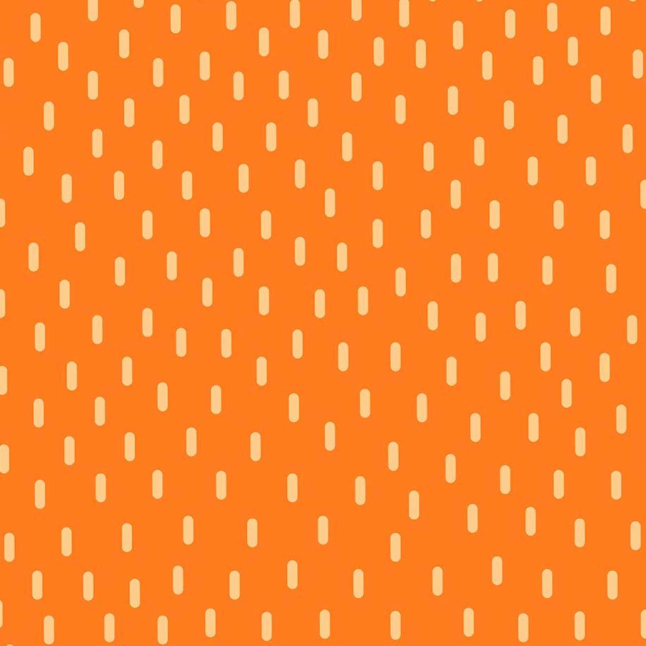 Fabricart Coleção Selva Colorida - Chuva  Laranja - 50cm X150cm