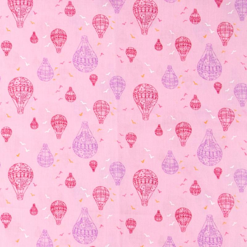 Casa Criativa - Balões Vermelho e Roxo Fundo Rosa -  50cm X150cm