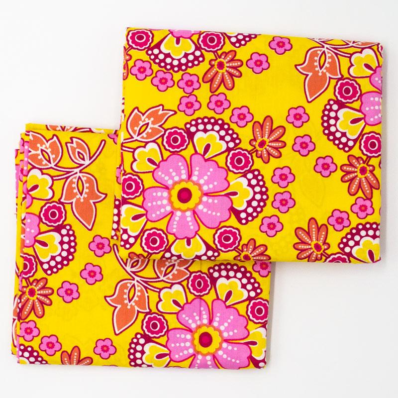 Decorart - Estampa Floral Fundo Amarelo - 50cm x 150cm