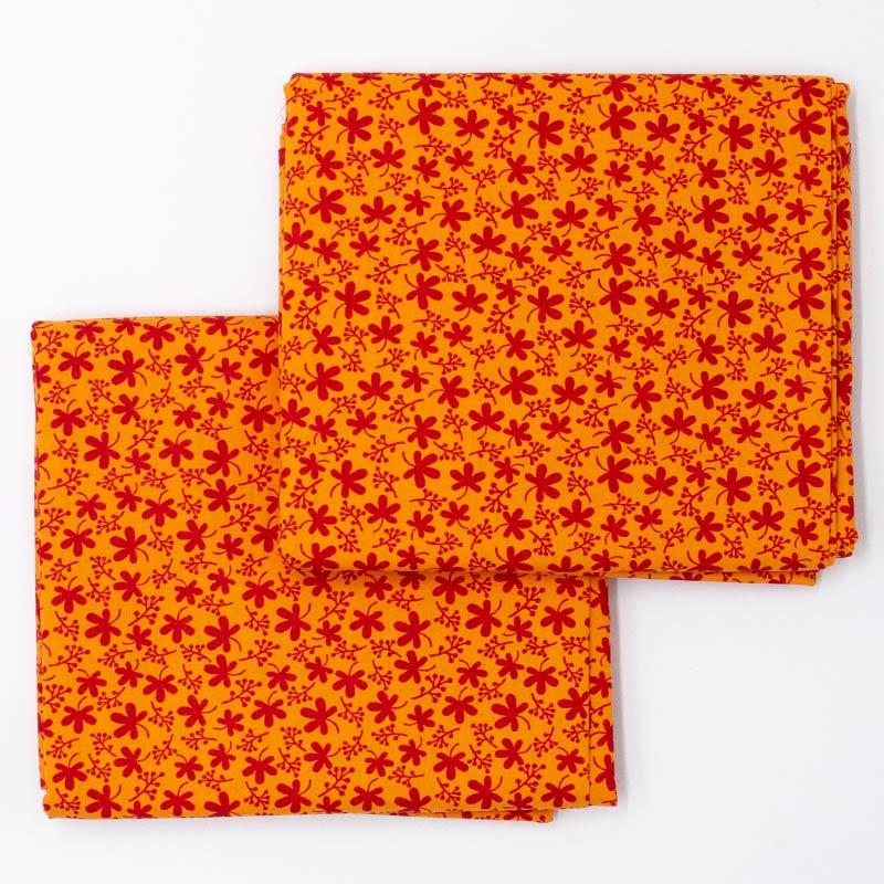 Decorart - Estampa Mini Floral Laranja - 50cm x 150cm