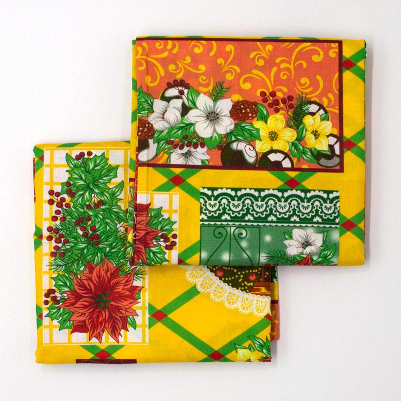 Estilotex - Coleção Natal - Papai  Noel Fundo Verde - 50cm X150cm