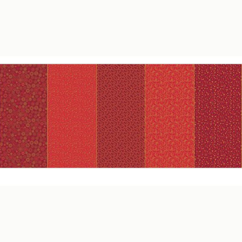 Eva e Eva  - Coleção Natal - Estampa Faixa Natal Vermelho - 50cm x 150cm