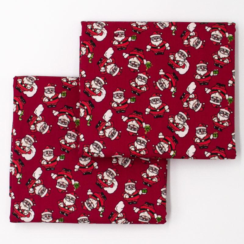 Fernando Maluhy - Coleção Natal - Papai  Noel Fundo Vermelho - 50cm X150cm