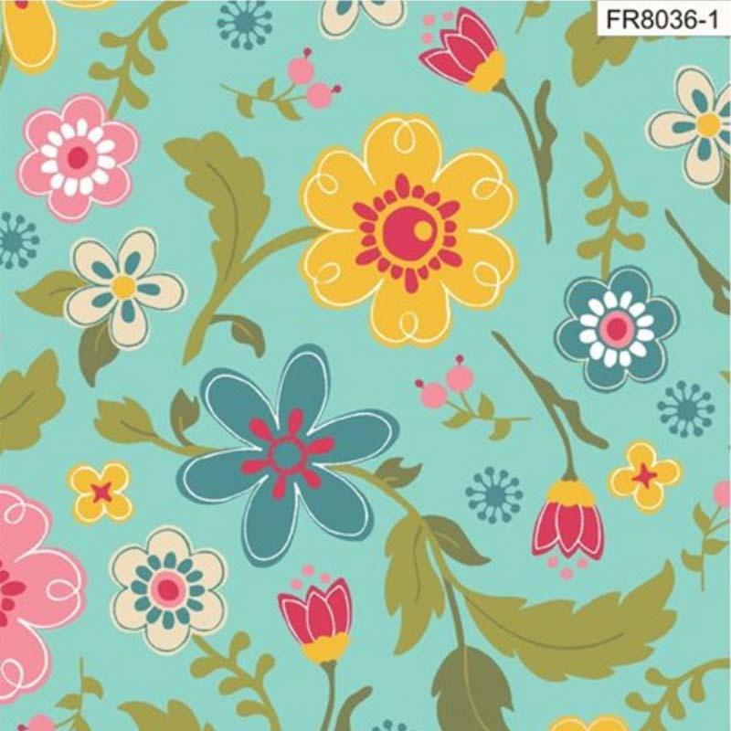 Eva e Eva Coleção Florescer - Estampa Floral Tiffany - 50cm x 150cm