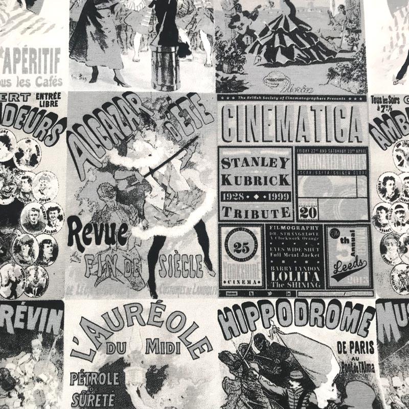 Tecido Gorgurão - Cinema Antigo - 50cm x 140cm