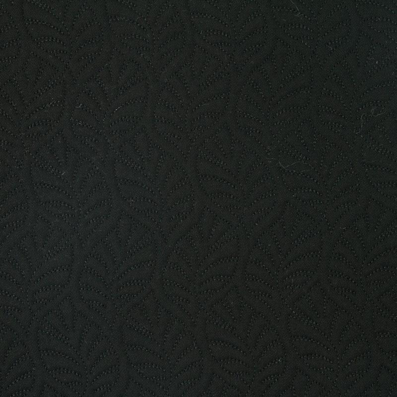 Tecido Matelassado Sarja Costela de Adão Preto - 50cm X 150cm
