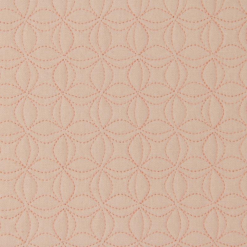 Tecido Matelassado Linho Rosa Flor de Lótus Pequena - 50cm X 150cm