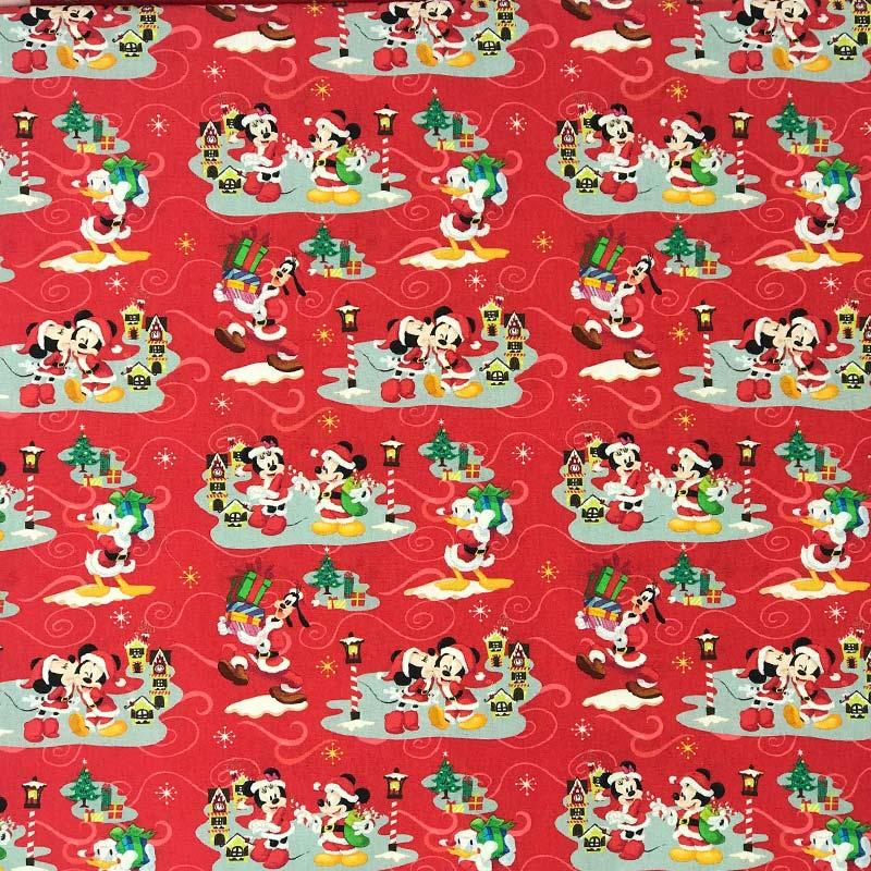 Fernando Maluhy - Coleção Disney Digital - Mickey e Minnie Vermelho  - 50cm X150cm