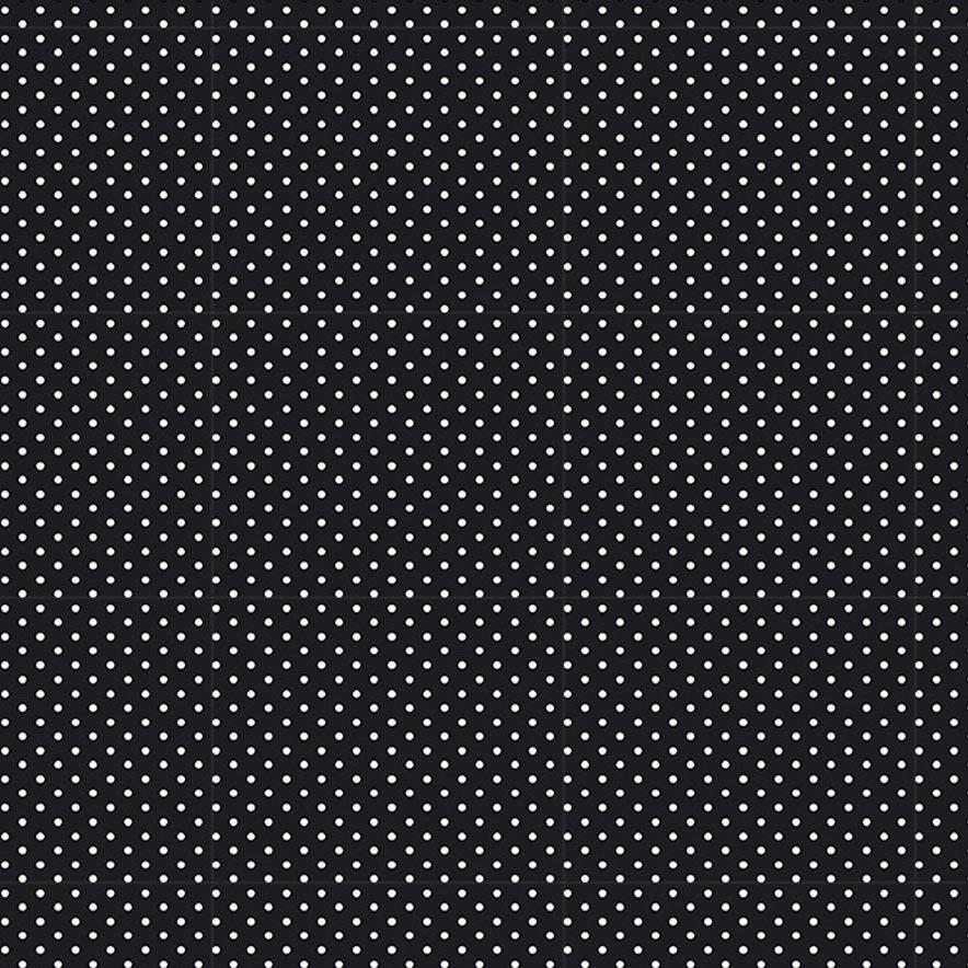 Fabricart Coleção Chiken - Micro Poá Preto - 50cm X150cm
