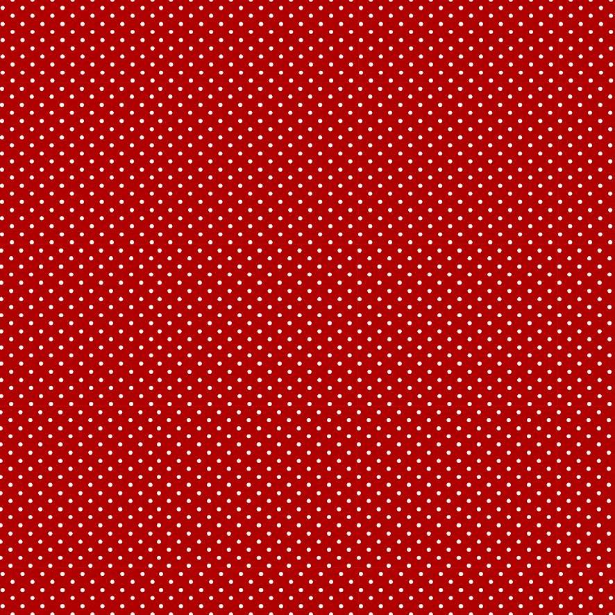 Fabricart Coleção Chiken - Micro Poá Vermelho Escuro - 50cm X150cm