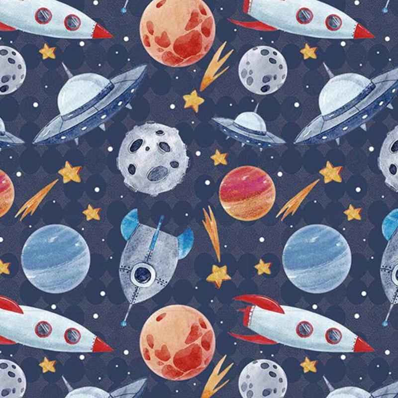 Fuxicos e Fricotes Coleção Astronautas - Naves e Planetas - 50cm X150cm