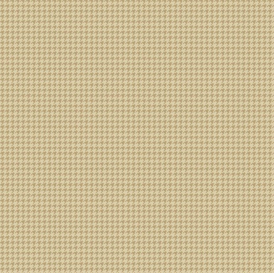 Fabricart Coleção Girassóis - Pied de Poule Marrom Claro  - 50cm X150cm