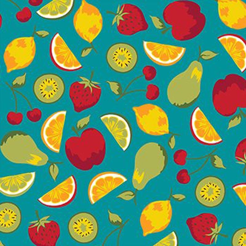 Eva e Eva Coleção Frutas - Salada de Frutas Tiffany - 50cm x 150cm