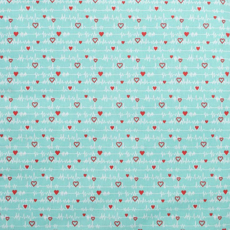 Igaratinga - Coleção Medicina - Frequência Cardíaca Fundo Tiffany - 50cm X150cm