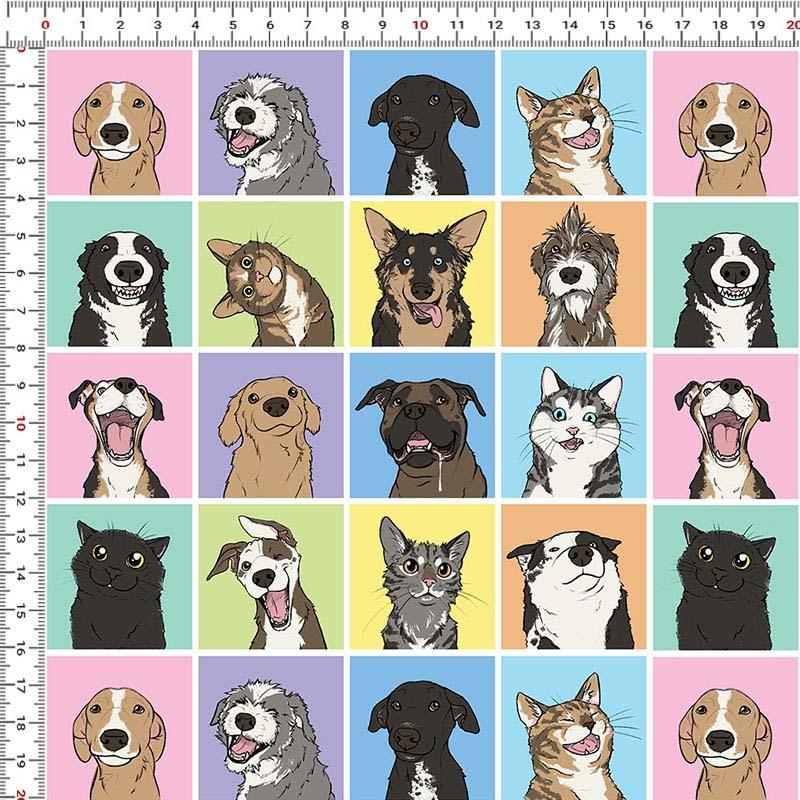 Casa  Criativa Coleção Mi Pets - Vira Latas - 50cm X150cm