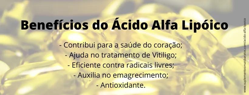 Beneficios do Ácido Alfa Lipóico e como tomar