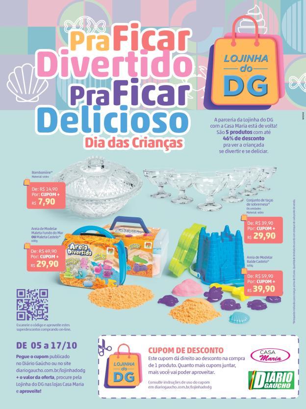 Promoção Casa Maria e Diário Gaúcho - Lojinha do DG
