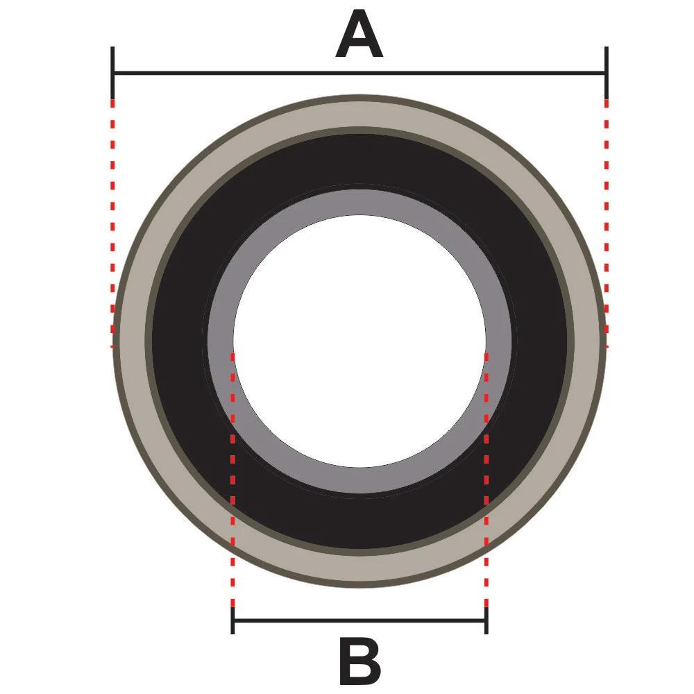 Desenho Técnico Rolamento 6202 2RS