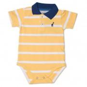 Body Infantil Gola Polo Amarelo Toffee