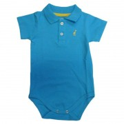 Body Infantil Gola Polo Azul Turquesa Toffee