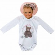 Body Manga Longa Mini Mix Ursa GBaby