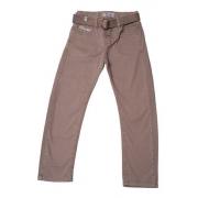 Calça Jeans Infantil Masculina Toffee Cor Caqui - Nº01