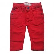 Calça Jeans Infantil Masculina Vermelho Toffee - 6 a 9 meses