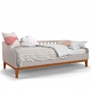 Cama Babá Nature Matic Cor Cinza/Eco Wood