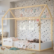 Cama Infantil Liv Matic Cor Branco/Natural