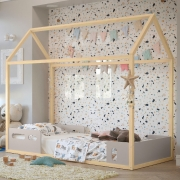 Cama Infantil Liv Matic Cor Cinza/Natural