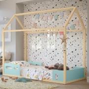 Cama Infantil Liv Matic Cor Menta/Natural