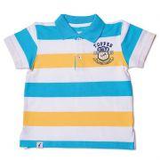 Camiseta Polo Infantil Listrada Piquet Toffee