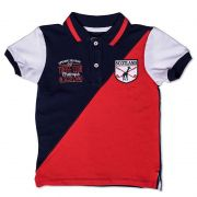 Camiseta Polo Infantil Recorte Toffee