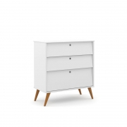 Cômoda 3 Gavetas Gold Matic Branco Soft/Eco Wood