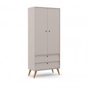 Guarda Roupa 2 Portas Gold Matic Cinza/Eco Wood