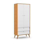 Guarda Roupa 2 Portas Gold Matic Freijó Branco Soft/Eco Wood
