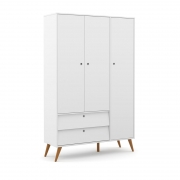 Guarda Roupa 3 Portas Gold Matic Branco Soft/Eco Wood