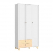 Guarda Roupa 3 Portas Rope Matic Branco Soft/Natural
