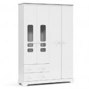 Guarda Roupa Smart 4 Portas Matic Cor Branco Soft