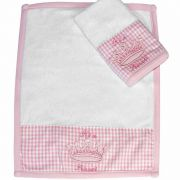 Kit com 2 fraldinhas de boca atoalhado Its a Girl Classic for Baby Cor Rosa