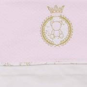 Lençol de Berço Kit 3 Peças Garden Hug Baby Cor Rosa