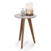 Mesa Lateral Liv Matic Cor Cinza/Eco Wood