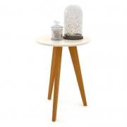 Mesa Lateral Liv Matic Cor Off White/Eco Wood