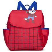 Mochila Infantil Biel Aranha Classic for Bags Cor Vermelho