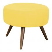 Puff Decorativo Redondo Danny Pés Palitos - Amarelo