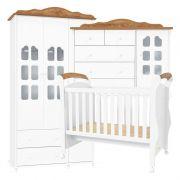 Quarto de Bebê Provence Plus 3 Portas Matic Cor Branco Teka