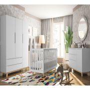 Quarto de Bebê Smart Baby Fiorello Cor Branco Acetinado