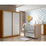 Quarto de Bebê Tutto New Matic Cor Freijó Branco Soft