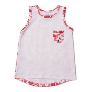 Regata Infantil Com Bolso Floral Laranja Toffee - Nº03