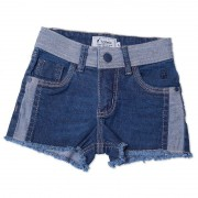 Shorts Jeans Infantil Feminino Toffee